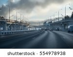 highway junction at the middle... | Shutterstock . vector #554978938