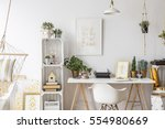 room with gold design and... | Shutterstock . vector #554980669