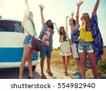 summer holidays  road trip ... | Shutterstock . vector #554982940