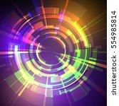 techno geometric vector curve...   Shutterstock .eps vector #554985814