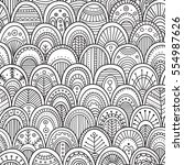 vector seamless pattern with... | Shutterstock .eps vector #554987626