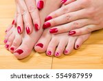 top down close up view on... | Shutterstock . vector #554987959