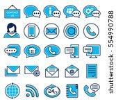 customer service icon set | Shutterstock .eps vector #554990788