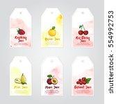 vector template of raspberry ... | Shutterstock .eps vector #554992753
