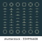 vintage decor elements and... | Shutterstock .eps vector #554996608