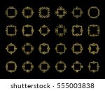 gold vintage decor elements and ... | Shutterstock . vector #555003838