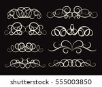 vintage decor elements and... | Shutterstock . vector #555003850