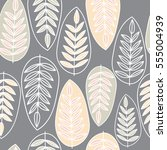 vector seamless pattern with... | Shutterstock .eps vector #555004939