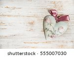 valentines day or wedding... | Shutterstock . vector #555007030