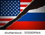 us russia flag | Shutterstock .eps vector #555009964