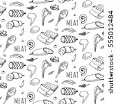 seamless pattern hand drawn... | Shutterstock .eps vector #555012484