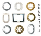Set Of Realistic Portholes Of...