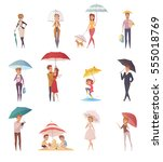 adults people and children... | Shutterstock .eps vector #555018769
