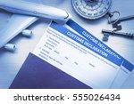 Customs declaration form on a...