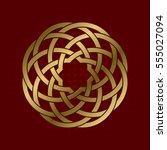 sacred geometric symbol of... | Shutterstock .eps vector #555027094