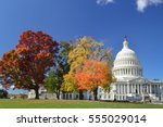 washington dc in autumn  ... | Shutterstock . vector #555029014