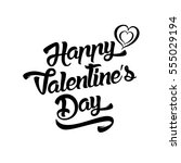 happy valentines day... | Shutterstock .eps vector #555029194