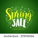 spring sale vector banner... | Shutterstock .eps vector #555030466