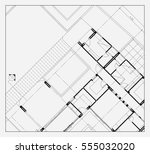 architecture floor plan... | Shutterstock . vector #555032020