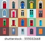 vector doors set. different... | Shutterstock .eps vector #555032668