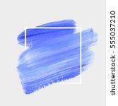 logo brush painted watercolor... | Shutterstock .eps vector #555037210