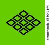 tiles icon flat design