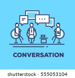 vector business illustration of ... | Shutterstock .eps vector #555053104