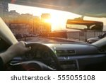 car interior and summer time  | Shutterstock . vector #555055108