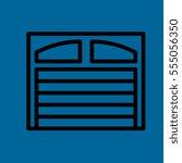 garage door icon flat design