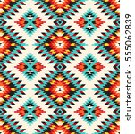 tribal seamless colorful... | Shutterstock .eps vector #555062839