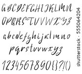 hand drawn font made by dry...   Shutterstock .eps vector #555064204