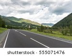mountain road. altai republic ...   Shutterstock . vector #555071476