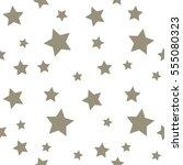 Star Seamless Pattern. Chaotic...