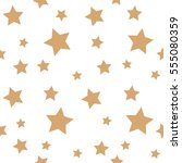 Star Seamless Pattern. Chaotic...