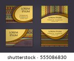 business card or visiting card... | Shutterstock .eps vector #555086830