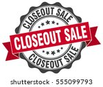 closeout sale. stamp. sticker....