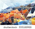abstract geometric mosaic... | Shutterstock .eps vector #555100900