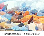 abstract geometric mosaic... | Shutterstock .eps vector #555101110