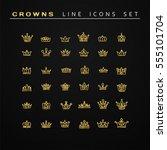 vector heraldic elements design.... | Shutterstock .eps vector #555101704