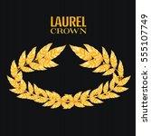 laurel crown. greek wreath with ...   Shutterstock .eps vector #555107749