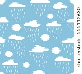 seamless pattern  clouds and...   Shutterstock .eps vector #555112630