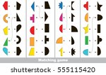 geometric shapes set to find... | Shutterstock .eps vector #555115420