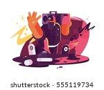 fashionable hip hop man dude   Shutterstock .eps vector #555119734