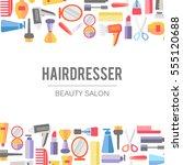 beauty store background. vector.... | Shutterstock .eps vector #555120688