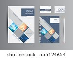 corporate identity for business.... | Shutterstock .eps vector #555124654