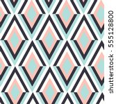 geometry zig zag vector pattern.... | Shutterstock .eps vector #555128800