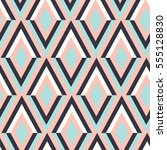 geometry zig zag vector pattern.... | Shutterstock .eps vector #555128830