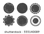 set of six round grunge stamps  ... | Shutterstock .eps vector #555140089