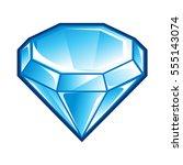 blue diamond icon | Shutterstock .eps vector #555143074