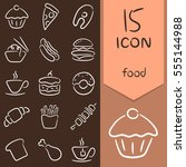 icons food  drink | Shutterstock .eps vector #555144988